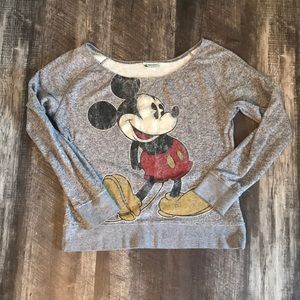 Disney's Mickey Mouse off the shoulder sweater